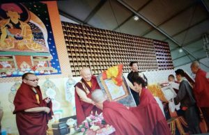 opening milarepa footprint thangka